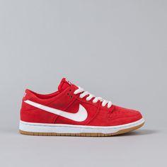 Nike SB Dunk Low Pro Ishod Wair Shoes - Red / White