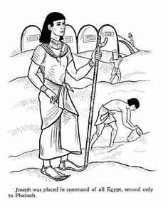 Joseph in charge of Egypt. Bible coloring page