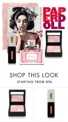 """Paperdoll"" by siska-macstevens ❤ liked on Polyvore featuring beauty, Rothko, Givenchy, Yves Saint Laurent, Christian Dior and beautycontest"