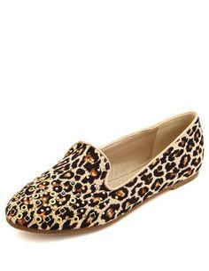 Multi-Stud Leopard Loafer: Charlotte Russe