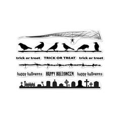 Hero Arts Clear Stamps HALLOWEEN BORDERS CL879