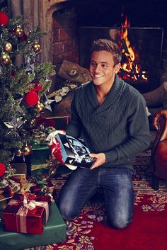 Tom Daley in a Christmas jumper   He looks nice dressed too!! Xxx