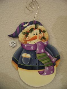 Adorable Snowflake Snowman Christmas by Bronsonscraftsnsuch, $5.00