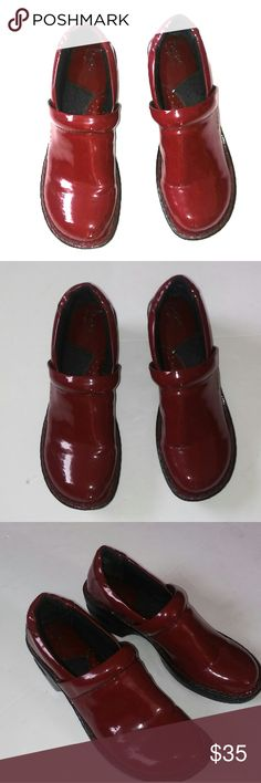 Red Patent B.O.C Nursing Shoes Nurses Patent Red Nursing Clogs or shoes. Very minor scuffs and wear. Like New. Size  8 B.O.C Brand Born of Concepts b.o.c. Shoes Mules & Clogs