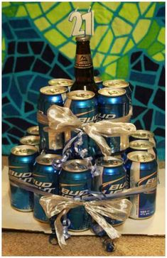 Beer Cake: great idea for a guy gift- for when Ant's best friend comes to visit