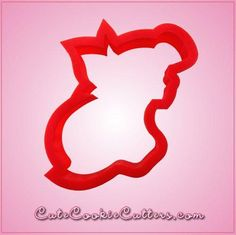 Our Ariel Profile cookie cutters are approximately 4 inches tall, 3 inches wide, and are made of red plastic. Cleaning instructions: hand wash, towel dry.  Buy