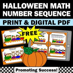 FREE Halloween Math Activities Number Sequencing Counting On Task Cards Digital Halloween Math, Halloween Themes, Special Education Math, Number Sequence, Easel Activities, Formative Assessment, Free Math, Task Cards, Math Centers