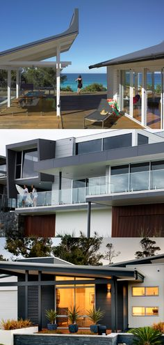 Here's how to get the Modern Coastal Look despite your postcode! Interior Cladding, Wall Cladding, Rural House, Modern Coastal, Exterior House Colors, Indoor Outdoor Living, Coastal Homes, House Front, New Homes