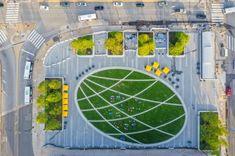 West 8 Urban Design & Landscape Architecture / projects / Drexel Square 30th Street Station, Raised Planter Beds, Urban Design Plan, The Future Is Now, Parking Design, Design Language, Green Lawn, Natural World, Landscape Architecture