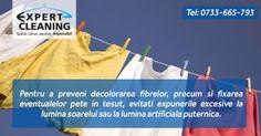 Pentru a preveni decolorarea fibrelor, precum si fixarea eventualelor pete in tesut, evitati expunerile excesive la lumina soarelui sau la lumina artificiala puternica.