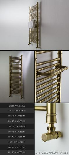 Coco Antique Brass Towel Rail (57X)