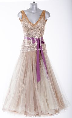 Ballroom dress as worn by Natalie Lowe on Strictly Come Dancing 2014. Designed by Vicky Gill and produced by DSI London