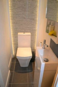 Dina Myers entry to the Topps Tiles present Off Your Fashion Gallery. Dina Myers entry to the Topps Tiles present Off Your Fashion Gallery. Small Toilet Design, Small Toilet Room, Guest Toilet, Small Downstairs Toilet, Cloakroom Toilet Small, Clockroom Toilet, Toilet Tiles, Toilet Bowl, Ideas Baños