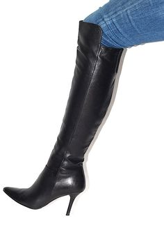 Stuart Weitzman Black Over The Knee Boots (www.Lenchylux.com)