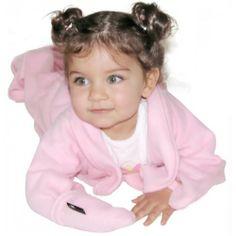 Manta con mangas y manoplas para bebés