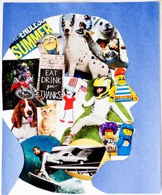 Silhouette Collage Art: Give kids the opportunity to explore who and what they aspire to be.