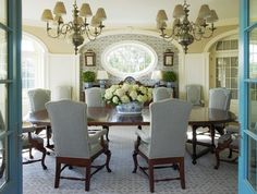 Southampton Traditional - beach-style - Dining Room - New York - Anthony Baratta LLC