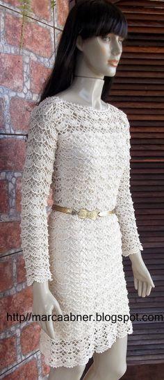 Marcinha crochê: vestido de crochê Nanci