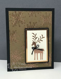 Merry Mistletoe, Snowflake Sentiments, Stampin' Up!, Christmas Card, BJ Peters  #stampinBJ.com