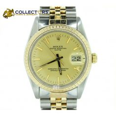 Rolex Date Stainless Steel 18k Gold Two Tone 34mm 16013 Watch with papers #rolex #date #stainless #steel #18k #yellow #gold #two #tone #jewelry #mens #ladies #womens #watch #shopccj #shopccj.com