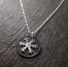 Snowflake Necklace by DestinysCreations on Etsy