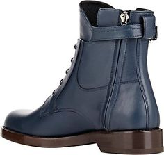 Lanvin Leather Buckle-Strap Boots - Boots - 503983797