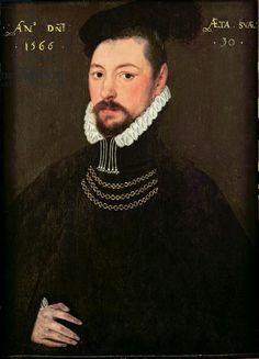 Portrait of Sir Edmund Huddleston (1536-1606), dated 1566.