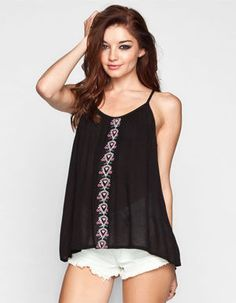PATRONS OF PEACE Embroidered Womens Cami