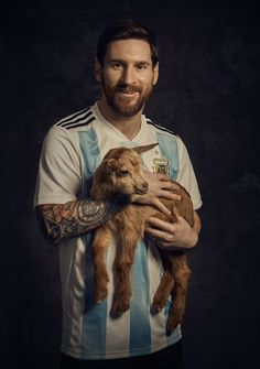 PsBattle: Lionel Messi with a goat Cristiano Ronaldo Real Madrid, Messi And Ronaldo, Messi 10, Neymar Jr, Messi Pictures, Messi Photos, Soccer Pictures, Messi Argentina, Messi Beard