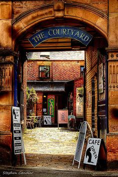 The Courtyard, Cafe, Matlock, Derbyshire, England Travel Maps, Places To Travel, Places To Go, Courtyard Cafe, Matlock Bath, Street Gallery, England And Scotland, Peak District, English Countryside