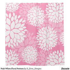 Pink White Floral Pattern