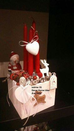 Megrendelés: nyulibuli@gmail.com Ára: 4500 Advent Wreath, Little Boxes, Winter Christmas, Centerpieces, Gift Wrapping, Gardening, Wreaths, Candles, Decoration
