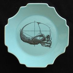 MY AMP GOES TO 11 | Anatomy painted dinner plates by artist Maureen...