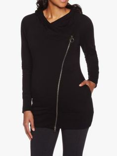 Shop online for Maternity Hoodie With Asymmetrical Zipper. Find Blouses, Tops, Maternity and more at Thyme Maternity Hoodie, Fall Maternity, Maternity Fashion, Baby Fever, Zipper, Hoodies, Pregnancy, Jackets, Blouses