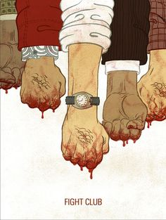Fight Club by Meen Choi. Firts rule! You don't talk about this poster, the second rule, You don't talk about this poster..