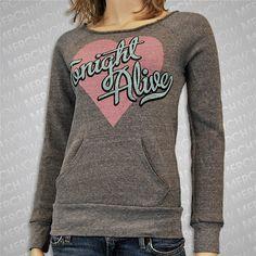 Tonight Alive Heart Script Eco Grey Crewneck
