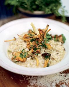 grilled mushroom risotto by Jamie Oliver. I saw Jamie cooking this on 30 minute meals the other night and it looked so good it made my mouth water!!!