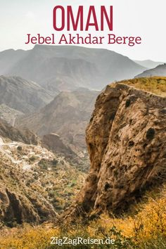 Jebel Akhdar Oman – Mountains and Saiq Plateau (travel tips + pictures) - Reise Western Diet, Nutrition Program, Eating Plans, How To Do Yoga, Healthy Weight Loss, Mother Nature, Travel Tips, Beautiful Places, Mountains
