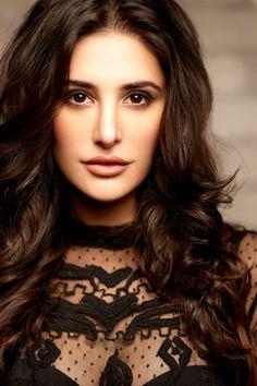 Nargis Fakhri Bollywood Actress in Black Dress Wallpaper.