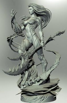 David Giraud - collectible works - Page 2 Digital Sculpting, 3d Figures, Modelos 3d, 3d Prints, Cg Art, Fantasy Girl, Monster, Character Art, Zbrush Character