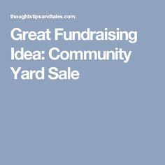 community yard sale flyer template