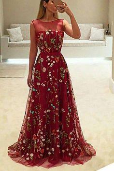 @AranzaDrive ❁ Floral Prom Dresses, Prom Dresses For Teens, Dress Prom, Formal Dresses For Women, Lace Evening Dresses, Dress Long, Mermaid Prom Dresses, Cheap Prom Dresses, Ball Dresses
