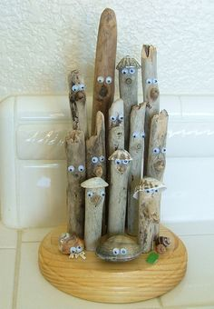 Humorous Comical Driftwood Sculpture for your beach by geomike, $14.95
