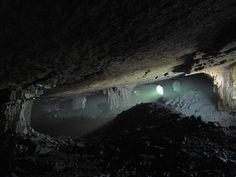 Mina subterranea de carbón.