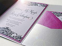 The 'Audrey' Pocketfold Wedding Invitation Set by delightink, $6.50
