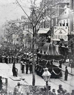 1865. Funeral procession for President Abraham Lincoln. Philadelphia