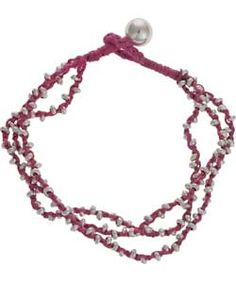 Pretty pink metal cord bracelet part of the Pretty Pastels look at Argos.