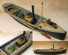 """Model Shipways' historically accurate kit recreates Picket Boat No. 1 in great detail. Plans are taken from research done by the History Channel for its 2005 program, """"The Most Daring Mission of the Civil War"""".  You'll build your model much the same way as the real boat was built almost 150 years ago, using many of the same materials. Only, your job will be much easier, thanks to the laser cut basswood parts and ready-made fittings,"""