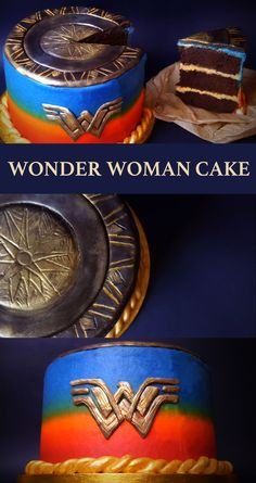 How to make a detailed but easy Wonder Woman cake.