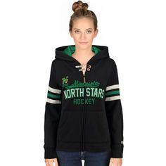 Minnesota North Stars CCM Women's Full Zip Hoodie - Black - $74.99